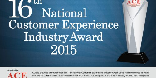 16th National Customer Experience Industry Award 2015 2