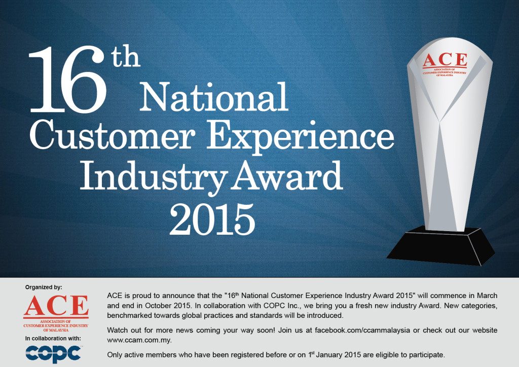 16th National Customer Experience Industry Award 2015