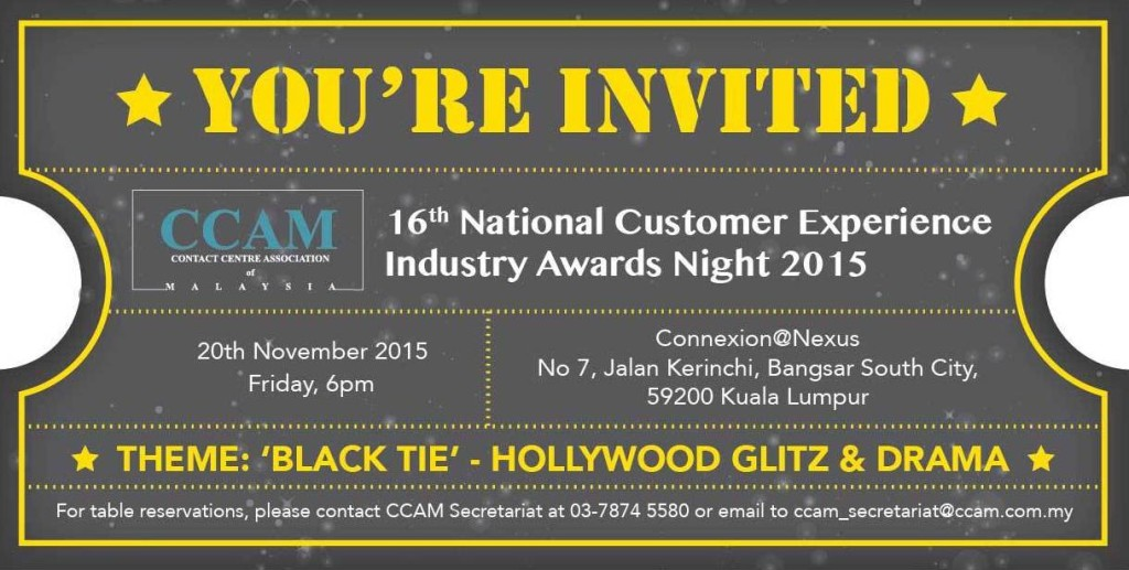 16th National Customer Experience Industry Awards Gala Dinner 2015