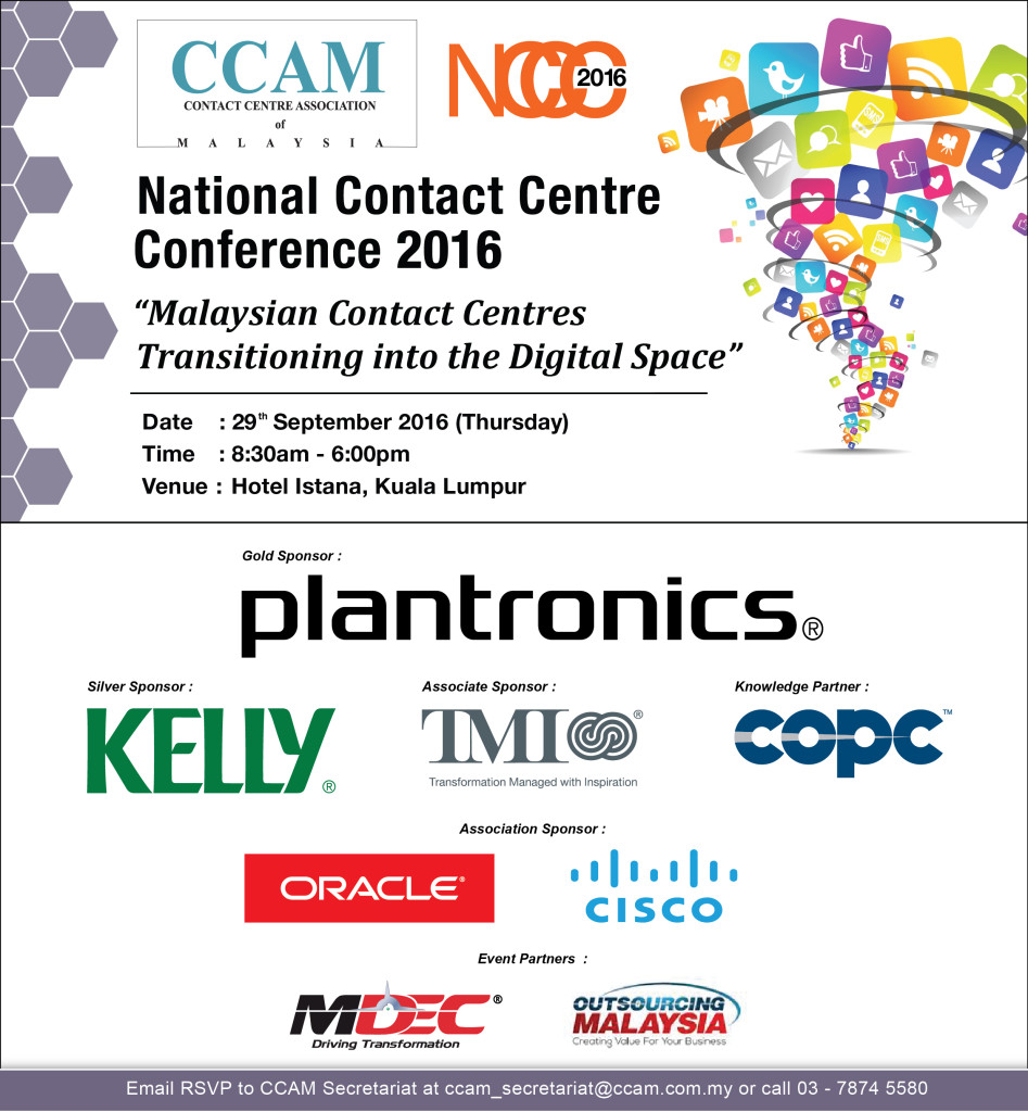 CCAM's National Contact Centre Conference 2016