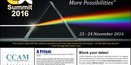 Customer Experience Summit 2016 (CX)