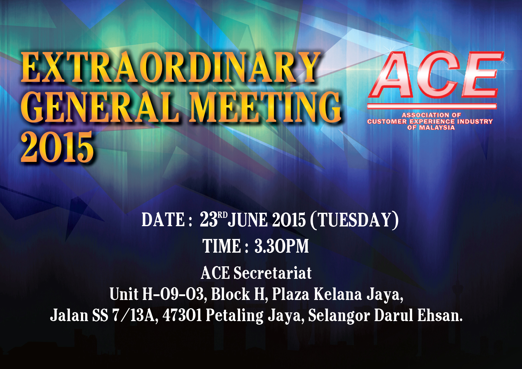 EXTRAORDINARY GENERAL MEETING 2015