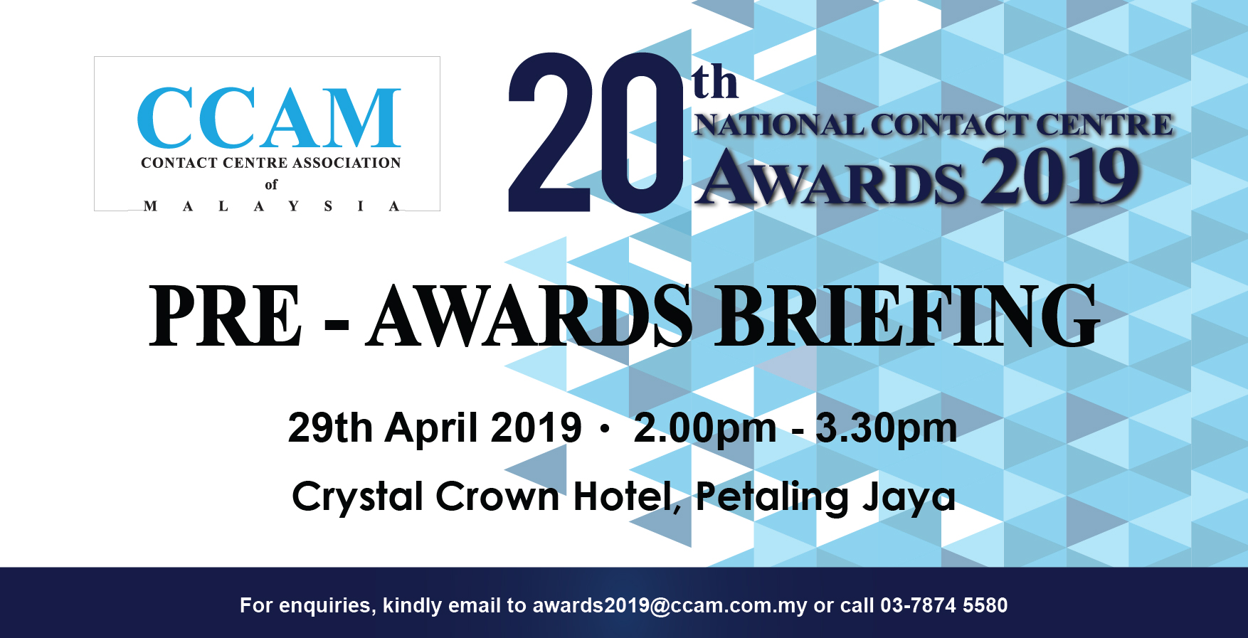 Pre Awards Briefing 2019