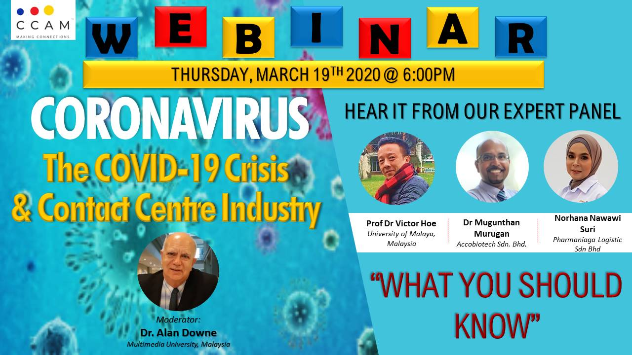 "Webinar – Coronavirus! The Covid-19 & Contact Centre Industry ""What You Should Know"""
