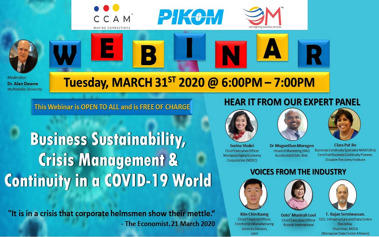 Webinar – Coronavirus! Business Sustainability, Crisis Management & Continuity In A COVID-19 World